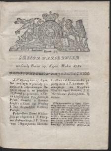 Gazeta Warszawska. R.1782 Nr 57