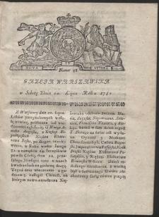 Gazeta Warszawska. R.1782 Nr 58