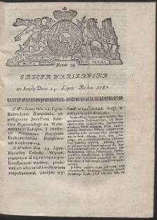 Gazeta Warszawska. R.1782 Nr 59