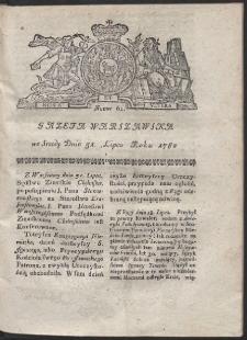 Gazeta Warszawska. R.1782 Nr 61