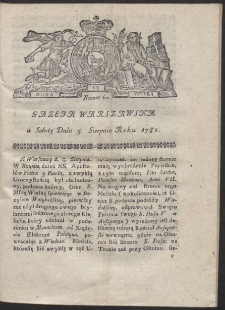 Gazeta Warszawska. R.1782 Nr 62