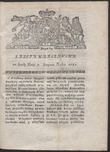 Gazeta Warszawska. R.1782 Nr 63