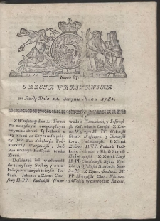 Gazeta Warszawska. R.1782 Nr 67