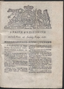 Gazeta Warszawska. R.1782 Nr 69