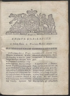 Gazeta Warszawska. R.1782 Nr 72