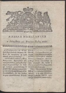 Gazeta Warszawska. R.1782 Nr 78