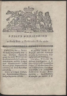 Gazeta Warszawska. R.1782 Nr 81