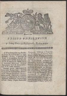Gazeta Warszawska. R.1782 Nr 84