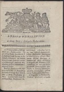 Gazeta Warszawska. R.1782 Nr 88