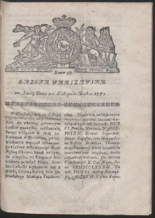 Gazeta Warszawska. R.1782 Nr 93