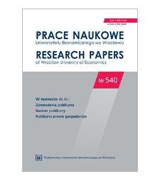 Spis treści [Prace Naukowe Uniwersytetu Ekonomicznego we Wrocławiu = Research Papers of Wrocław University of Economics; 2018; Nr 540]