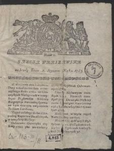 Gazeta Warszawska. R.1783 Nr 1