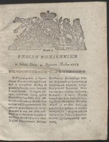 Gazeta Warszawska. R.1783 Nr 2