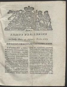 Gazeta Warszawska. R.1783 Nr 3