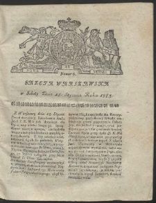 Gazeta Warszawska. R.1783 Nr 6