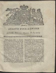 Gazeta Warszawska. R.1783 Nr 7