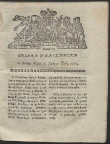 Gazeta Warszawska. R.1783 Nr 10