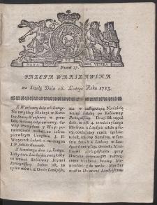 Gazeta Warszawska. R.1783 Nr 17
