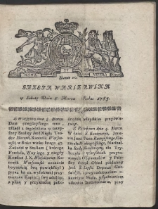 Gazeta Warszawska. R.1783 Nr 20