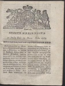 Gazeta Warszawska. R.1783 Nr 23