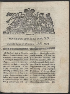 Gazeta Warszawska. R.1783 Nr 28
