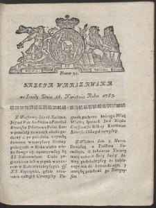Gazeta Warszawska. R.1783 Nr 31