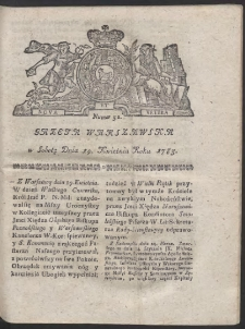 Gazeta Warszawska. R.1783 Nr 32