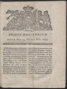 Gazeta Warszawska. R.1783 Nr 33