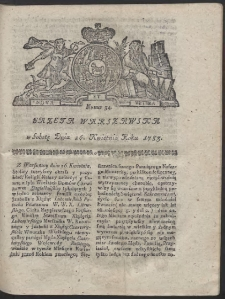Gazeta Warszawska. R.1783 Nr 34