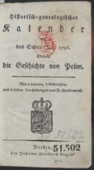 Historisch-Genealogischer Calender auf das […] Jahr 1796 […]