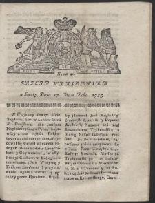 Gazeta Warszawska. R.1783 Nr 40