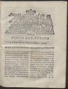 Gazeta Warszawska. R.1783 Nr 46