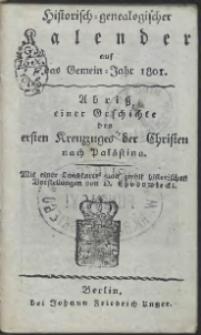 Historisch-Genealogischer Calender auf das […] Jahr 1801 […]