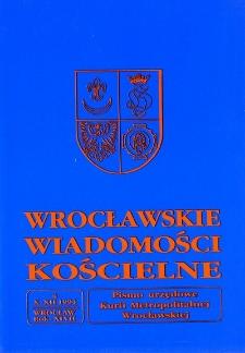 Wrocławskie Wiadomości Kościelne. R. 46 (1993), nr 4
