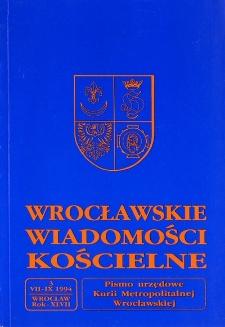 Wrocławskie Wiadomości Kościelne. R. 47 (1994), nr 3