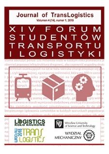 Journal of TransLogistics : zbiór prac uczestników XIV Forum Studentów Transportu i Logistyki. Vol. 4 (14), 2018, nr 1