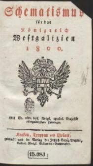 Schematismus für das Königreich Westgalizien 1800