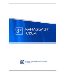 Spis treści [Management Forum, 2016, vol. 4, no. 1]