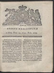 Gazeta Warszawska. R.1783 Nr 58