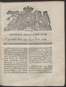 Gazeta Warszawska. R.1783 nr 59