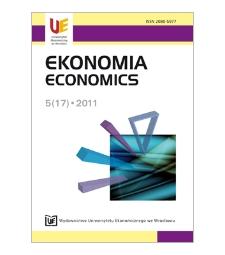 Spis treści [Ekonomia = Economics, 2011, Nr 5 (17)]
