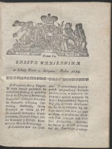 Gazeta Warszawska. R.1783 Nr 64