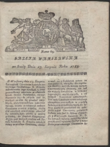 Gazeta Warszawska. R.1783 Nr 65