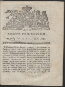 Gazeta Warszawska. R.1783 Nr 67