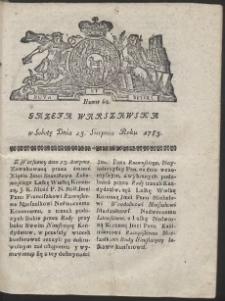 Gazeta Warszawska. R.1783 Nr 68