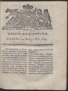 Gazeta Warszawska. R.1783 Nr 73