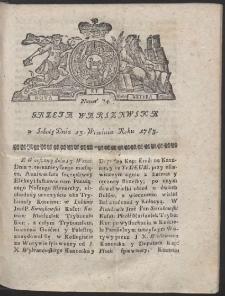 Gazeta Warszawska. R.1783 Nr 74