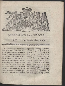 Gazeta Warszawska. R.1783 Nr 79