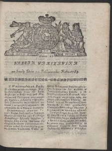 Gazeta Warszawska. R.1783 Nr 85