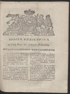 Gazeta Warszawska. R.1783 Nr 91